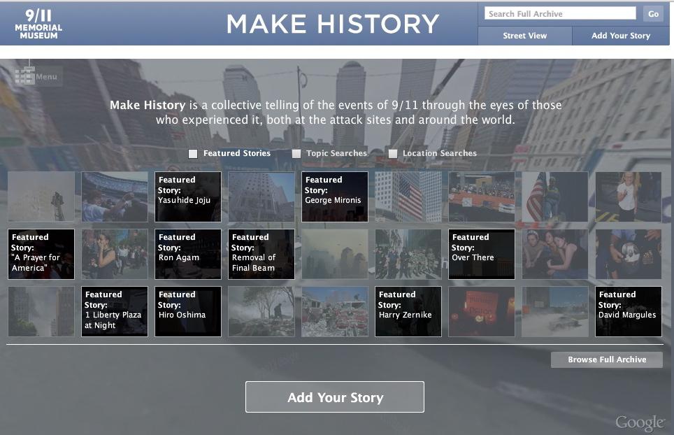 Make History homepage